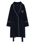 5252 바이 오아이오아이(5252BYOIOI) PIPING POINT TERRY ROOM ROBE [NAVY]