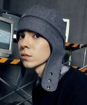 슬리피슬립(SLEEPYSLIP) [unisex]2WAY WOOL TROOPER HAT GRAY
