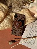하이칙스(HIGH CHEEKS) [SET] Leopard Teddy Bear Griptok Case