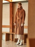 뮤제() MANET Cashmere Blended Wool Coat_Camel