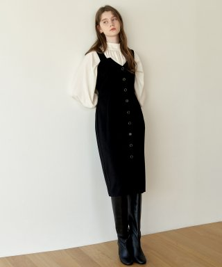 하케쉬(HACKESCH) Jewelry Button Dress_Black