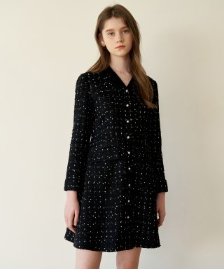 하케쉬(HACKESCH) Stella Tweed Dress_Black