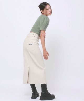 어글리쉐도우(UGLYSHADOW) WOOL LONG SKIRT(IVORY)