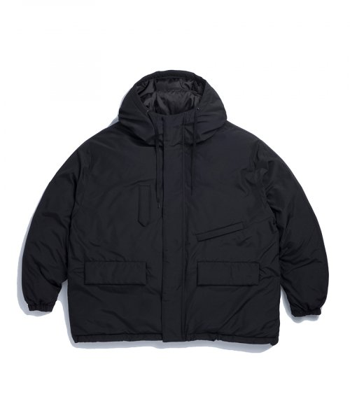 에스피오나지(ESPIONAGE) Dyer Hooded Down Parka Black