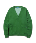 스트리트 스탠다드(STREET STANDARD) SWEAT CARDIGAN GREEN