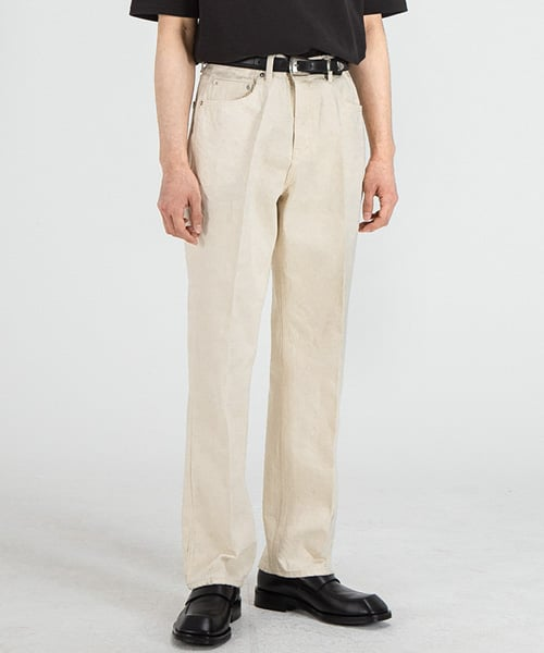브랜디드(BRANDED) 51007 HISHITOMO NATURAL CREAM JEANS [RELAX STRAIGHT]