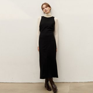 슬로우무브(SLOWMOVE) Reversible vest dress - Black