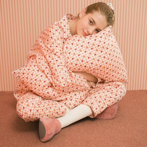 어프어프(EARPEARP) Dot strawberry check-pink(Pajamas)