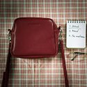 필인더블랭크(FILLINTHEBLANK) SISTER TRAPEZOID MINI BAG (burgundy)