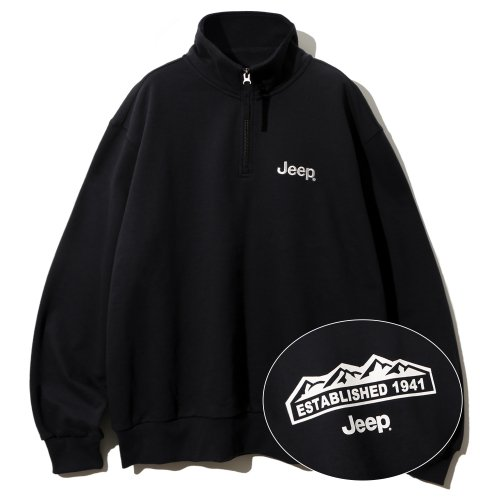 지프(JEEP) Half  Zip-Up M-Logo Sweat  (JM5TSU838BK)