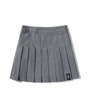 5252 바이 오아이오아이(5252BYOIOI) PLEATED MINI SKIRT [GREY]