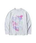5252 바이 오아이오아이() ELE LONG SLEEVE T-SHIRTS [LIGHT GREY]