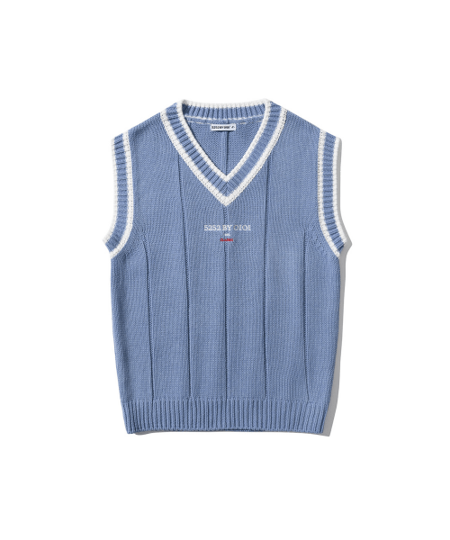 5252 바이 오아이오아이(5252BYOIOI) BASIC KNIT VEST [LIGHT PURPLE]