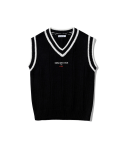 5252 바이 오아이오아이(5252BYOIOI) BASIC KNIT VEST [BLACK]