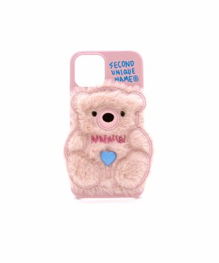 세컨드유니크네임(SECOND UNIQUE NAME) SUN CASE PATCH FUR BEAR LIGHT PINK