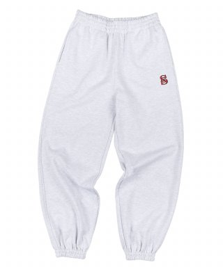 스컬프터(SCULPTOR) 90's Logo Sweatpants White Melange