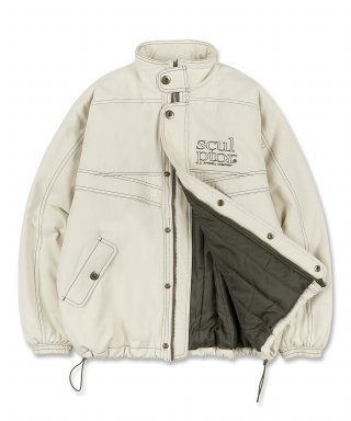 스컬프터(SCULPTOR) Contrast Stitch Work Jacket Cream