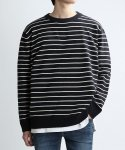 쟈니웨스트(JHONNY WEST) CREWMAN STRIPE KNIT (NV/CRM)