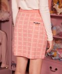 로라로라(ROLAROLA) (SK-21146) SET-UP CHECK JACQUARD KNIT SKIRT PINK