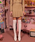 로라로라(ROLAROLA) (SK-21144) SET-UP CHECK PLEAT SKIRT BEIGE