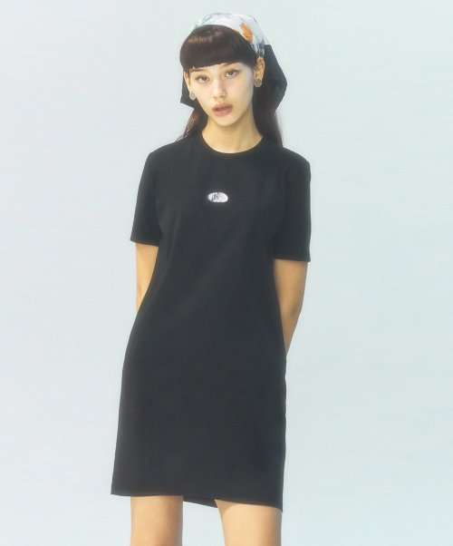 시티브리즈(CITY BREEZE) [CITY] Lenticular Boxi Jersey Dress_BLACK (CTD1)