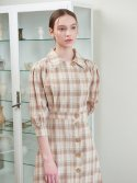 가니송(GANISONG) Unbalance Shirts Long One-piece_beige
