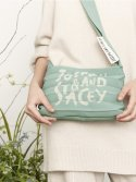 조셉앤스테이시(JOSEPH&STACEY) Lucky Pleats Knit Crossbag Graffiti Basil