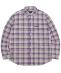 디스이즈네버댓(THISISNEVERTHAT) Plaid Twill Shirt Purple