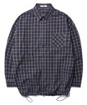 브이투() OVERFIT CHECK BANDING SHIRT_BLUE