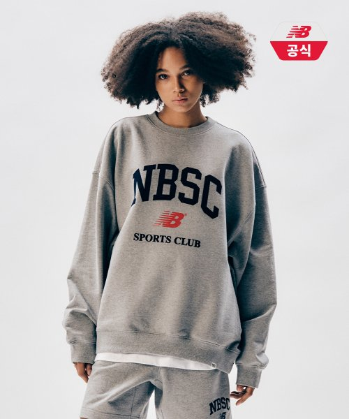 뉴발란스(NEW BALANCE) NBNCB20023 / UNI NB SPORTS CLUB 맨투맨(OVER FIT)