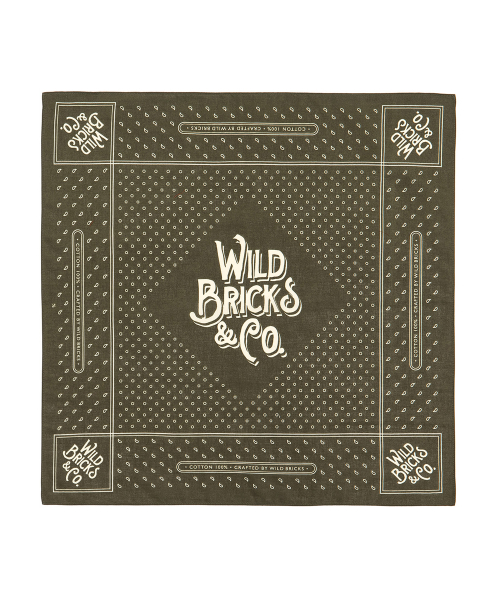 와일드 브릭스(WILD BRICKS) SQ BANDANA (khaki)