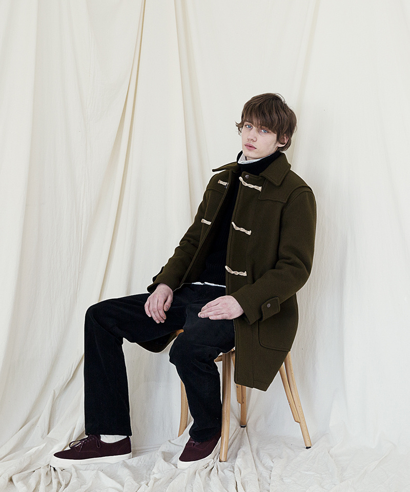 유니폼브릿지(UNIFORM BRIDGE) 17fw heavy duffle coat olive