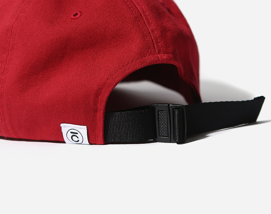 커버낫(COVERNAT) AUTHENTIC LOGO CURVE CAP RED