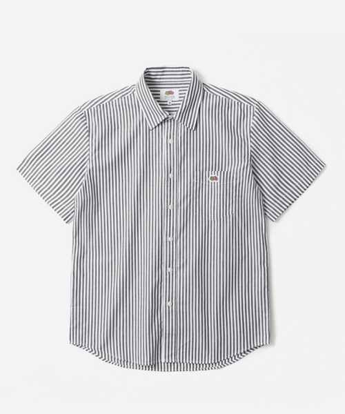 프룻오브더룸(FRUIT OF THE LOOM) S/S 1PK STRIPE SHIRTS