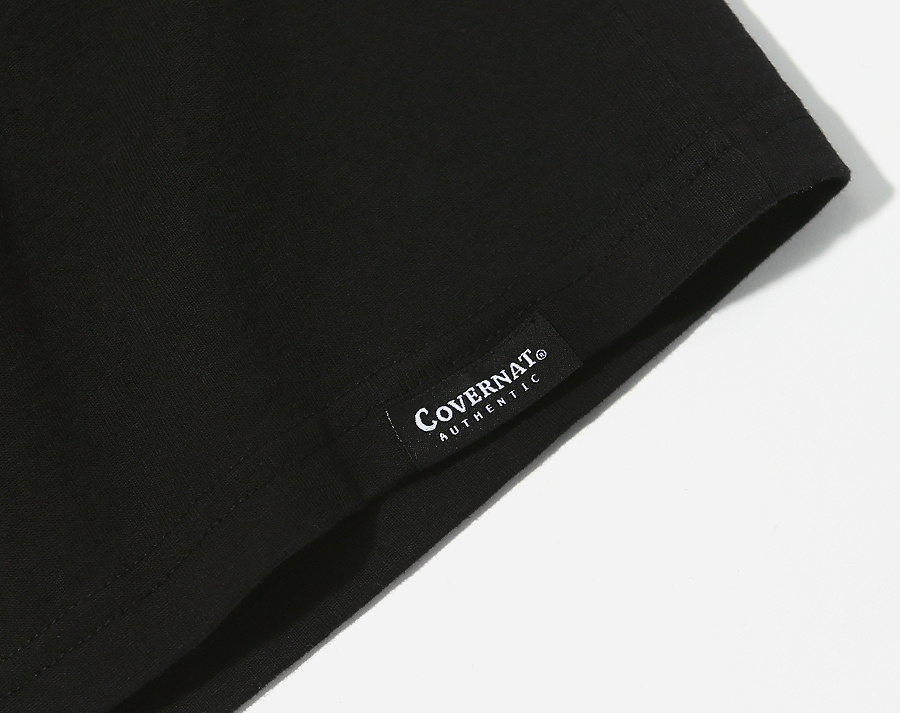 커버낫(COVERNAT) S/S AUTHENTIC LOGO TEE BLACK
