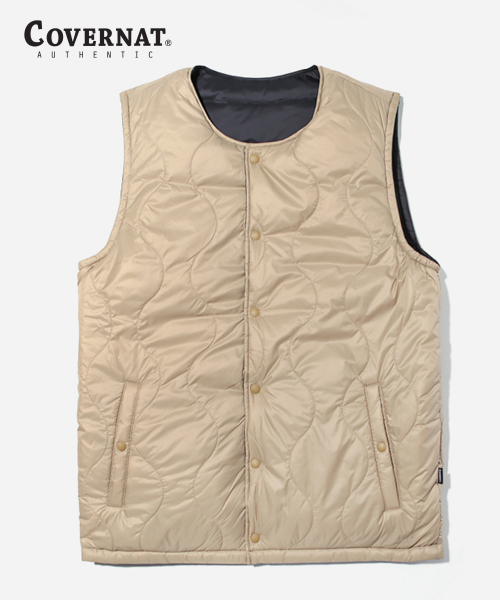 커버낫(COVERNAT) 18AW REVERSIBLE GOOSE DOWN VEST