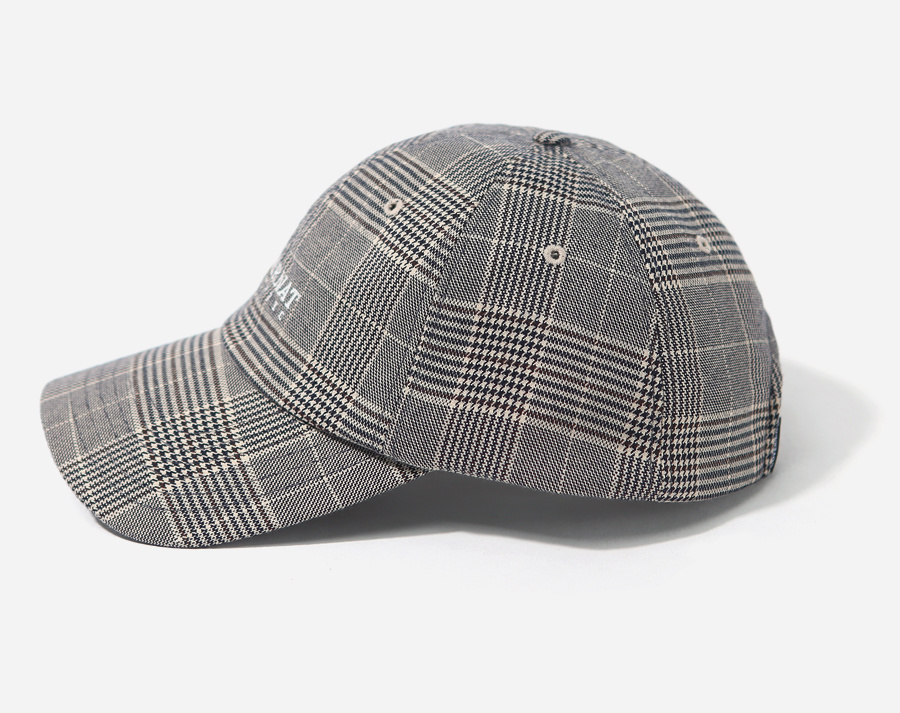 커버낫(COVERNAT) AUTHENTIC LOGO CURVE CAP CHECK