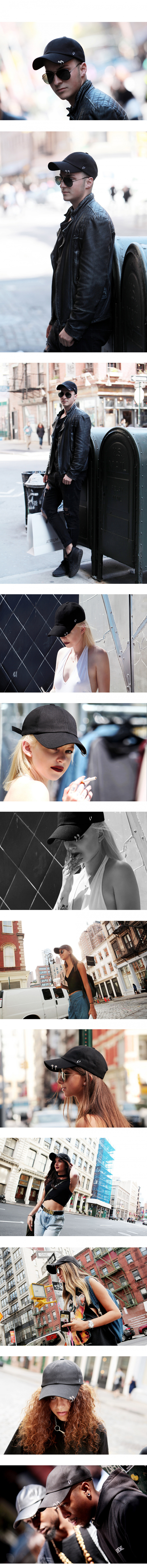 바이브레이트(VIBRATE) TWIN RING BALL CAP (black)