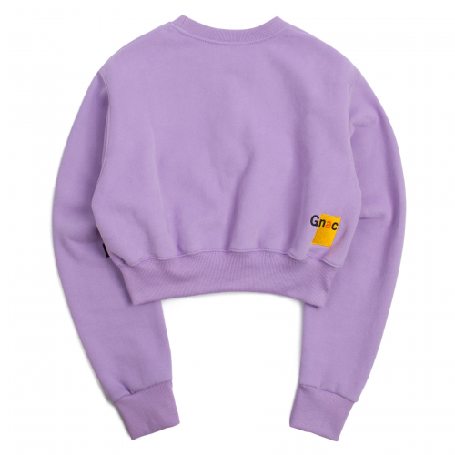 로맨틱크라운(ROMANTIC CROWN) Pocket Crop Sweat Shirt_Purple