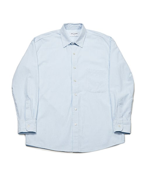 86로드(86ROAD) Semiover Stripe Shirts (Blue)