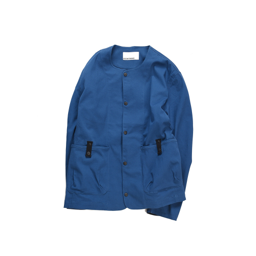 비슬로우 스탠다드(BESLOW STANDARD) 18FW STANDARD POCKET COLLARLESS CARDIGAN BLUE