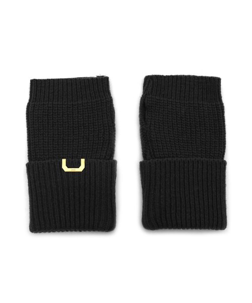 언더컨트롤 스튜디오(UNDERCONTROL STUDIO) SLEEVE WARMER / LAMBS WOOL / BLACK
