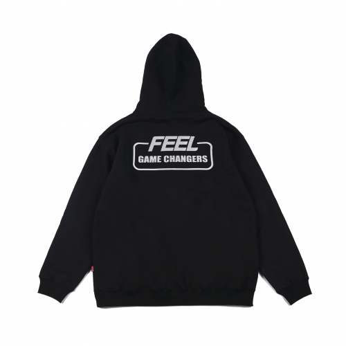 필이너프(FEELENUFF) GAME CHANGERS HOODIE BLACK