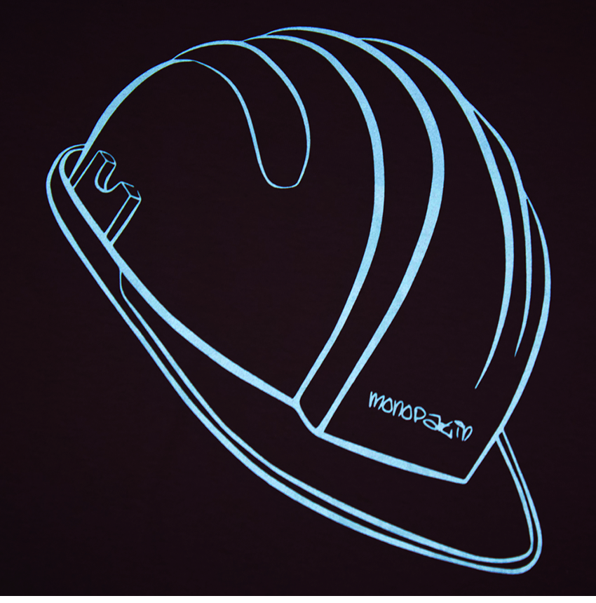 모노파틴(MONOPATIN) night light helmet scotchlite logo shirt – pink/skyblue