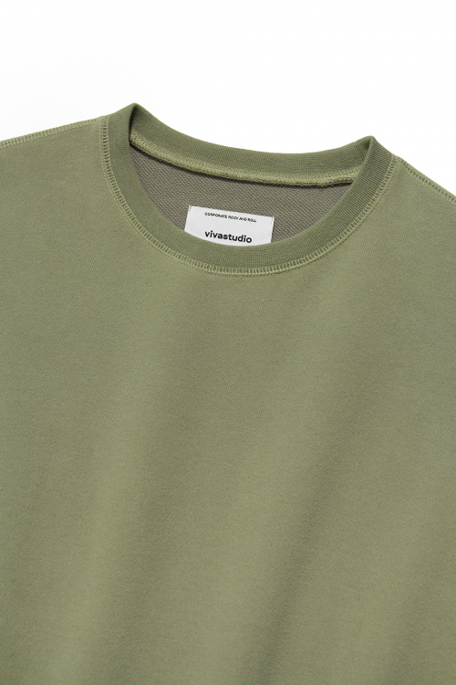 비바스튜디오(VIVASTUDIO) DYED COLOR CREWNECK IS [BEIGE]
