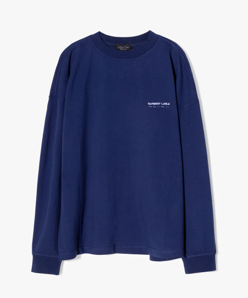가먼트레이블(GARMENT LABLE) Pigment Long Sleeve Tee - Navy