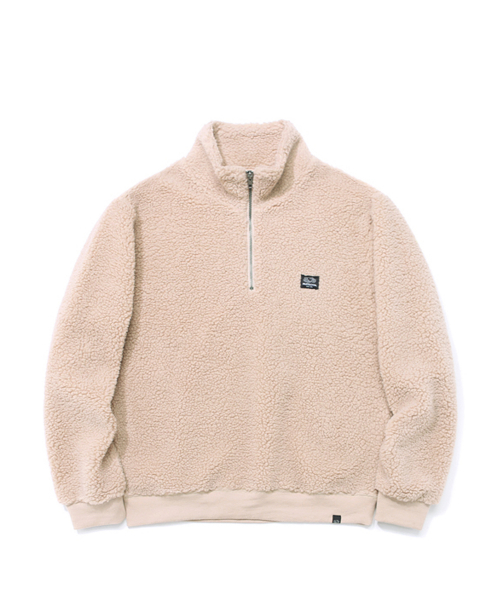 프룻오브더룸(FRUIT OF THE LOOM) BOA HALF ZIP-UP IVORY