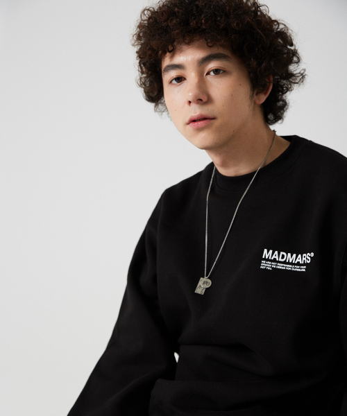 매드마르스(MADMARS) LAYERED LOGO SWEATSHIRT_BLACK