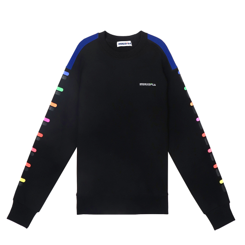 스테레오 바이널즈(STEREO VINYLS) [SS19 STEREO X FILA] Color of Sound Sweatshirt(Black)
