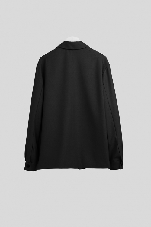 더 티셔츠 뮤지엄(THE T-SHIRT MUSEUM) 19ss wool shirt jacket [black]